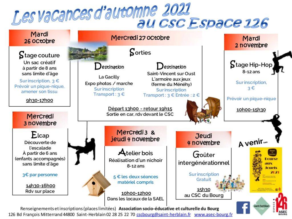 Vacances d'automne 2021